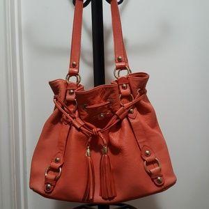 Elliott Lucca Leather Satchel Handbag